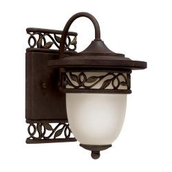 @Overstock - Illuminate your porch or deck with this stylish outdoor wall light from Aztec Lighting and stay outside well after dark. This elegant light has a a tannery bronze finish and intricate vine pattern that makes your outdoor living space more inviting.http://www.overstock.com/Home-Garden/Aztec-Lighting-Transitional-1-light-Tannery-Bronze-Outdoor-Wall-Light/6492178/product.html?CID=214117 $42.99