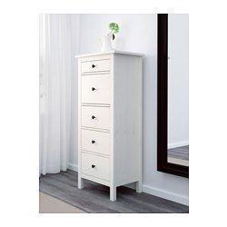HEMNES Kommode mit 5 Schubladen, weiß gebeizt - 58x131 cm - IKEA