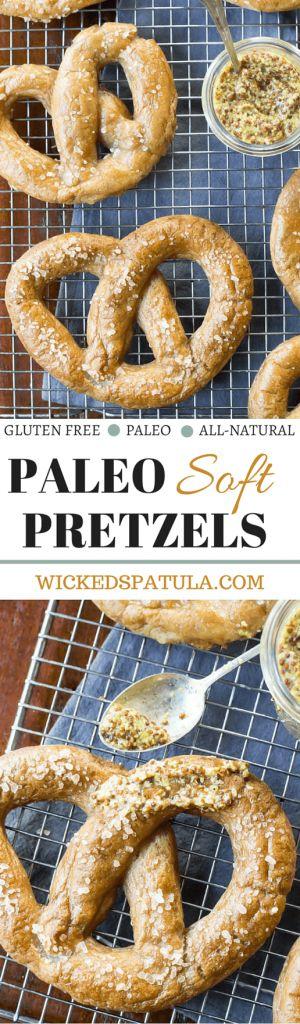Paleo Pretzels - Just like Auntie Ann's!   wickedspatula.com