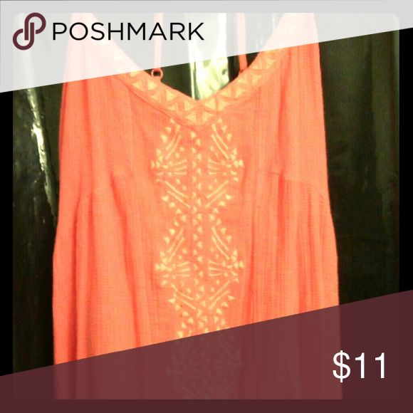 Volcom Dark Peach High-Low Dress 100% Cotton Lining Worn once Excellent condition XSmall Pretty for a casual outing, day on the beach, or dinner and drinks! Goes really well with Liz Claiborne purse for sale Purchase both items for 15% off Volcom Dresses High Low
