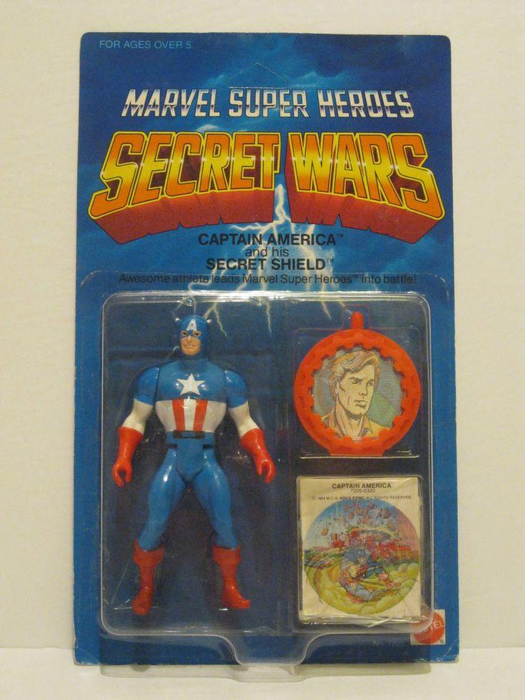 Brand New 1984 Mattel Marvel Secret Wars Captain America Action Figure Unpunched