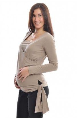 Tunică pentru gravide şi alăptare: cappuccino