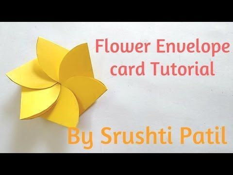 This is a video tutorial on how to make Flower envelope card Tutorial.