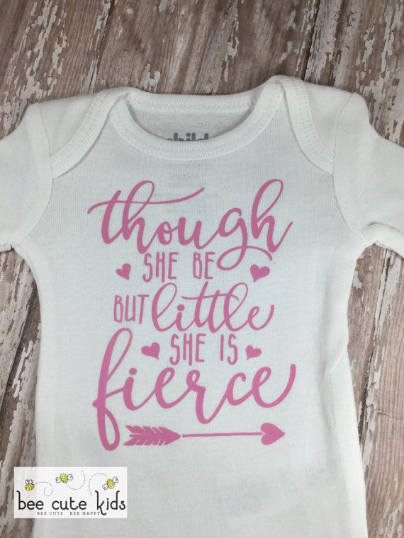 Though She Be But Little She is Fierce – Feminist Shirt – Shakespeare Quote – Ba…