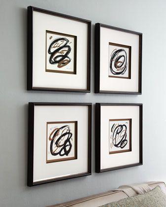 Four Circle Abstract Prints by John-Richard Collection at Horchow.: Art Decor, John Richard Collection, Decor Features, Art Prints, Circles Abstract, Johnrichard Collection, Exquisite Art, H5Feu Johnrichard, Abstract Prints