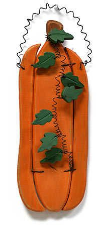 free primitive images to paint on wood | Primitive Wooden Pumpkin with Wire Hanger - Thanksgiving - Holiday ...