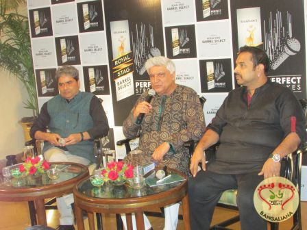 Javed Akhtar, Vishal Bhardwaj and Shankar Mahadevan met the press and highlighted on what to expect from the event Royal Stag Barrel Select Perfect Strokes.