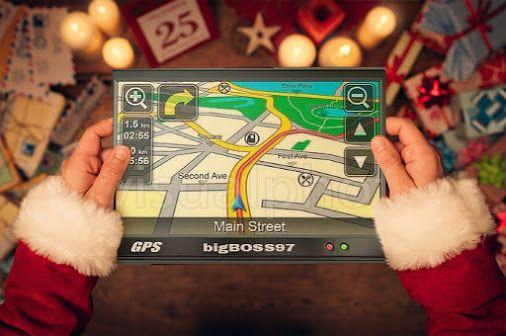 Santa Claus is coming to town!  #Xmas #SantaClausIsComingToTown #Santa #Christmas #GPS #SantaClaus #funny