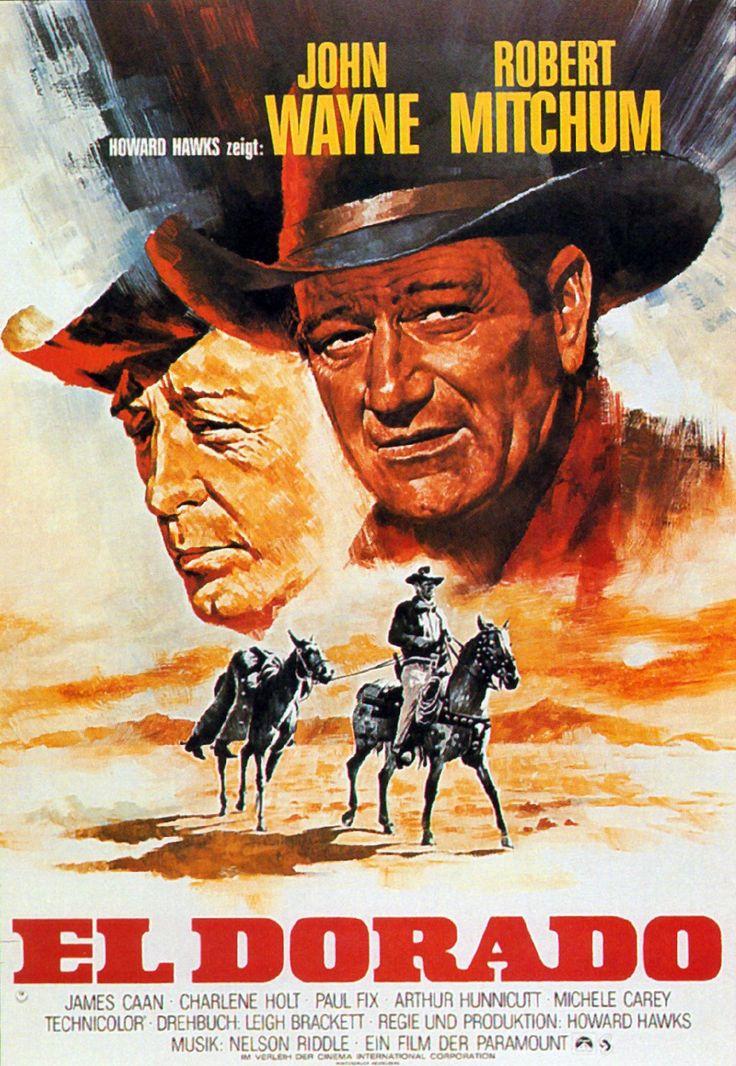 """""""El Dorado"""" (1966)--Western starring John Wayne, Robert Mitchum, Ed Asner, and James Caan"""