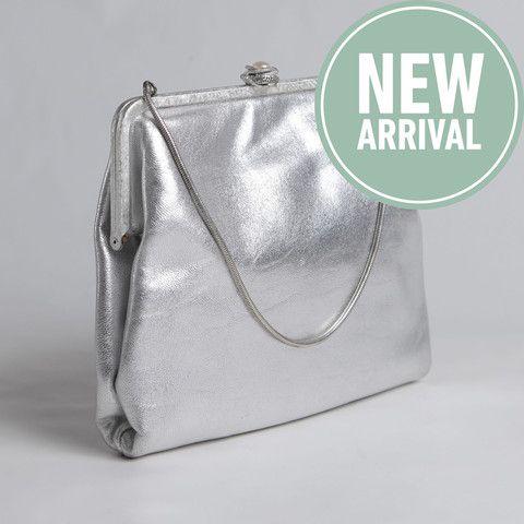 BEAUTIFUL EVENING BAG | silver leather – Nouvelle Bag. www.nouvellebag.com