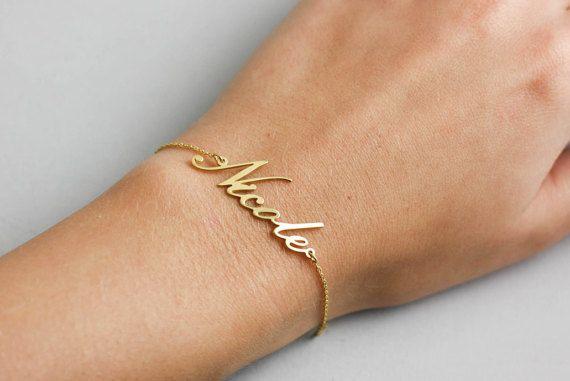 Personalized Bracelet, Silver Name Bracelet, Custom Name Gold Filled, Chain Bracelet, Gold Name Bracelet, Custom Name Bracelet, SB0181