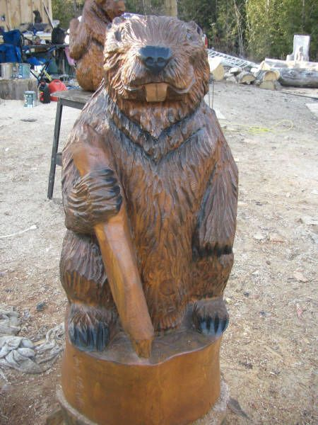 Best chain saw carving images on pinterest tree