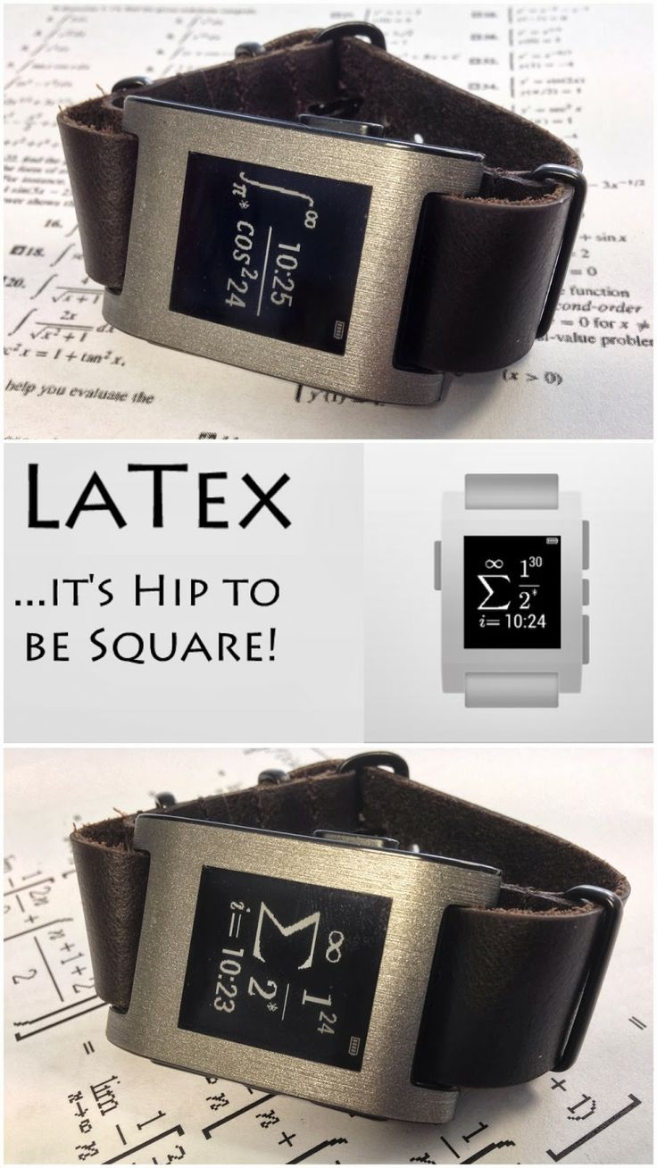 The Pebble Blog: Pebble KS, oiled brown leather NATO, LaTex Math wa...