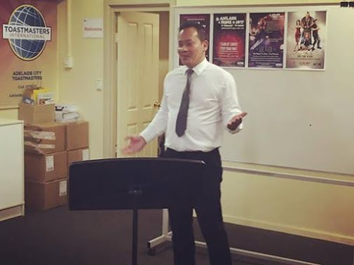 Thanks to Synergy Toastmasters for the opportunity to do a 20min preview of my show woo! LOC & LOL www.loctran.com.au #adlfringe
