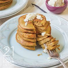 21DSD Recipe: Pumpkin Pancakes with Vanilla Bean Coconut Butter | The 21-Day Sugar Detox by Diane Sanfilippo