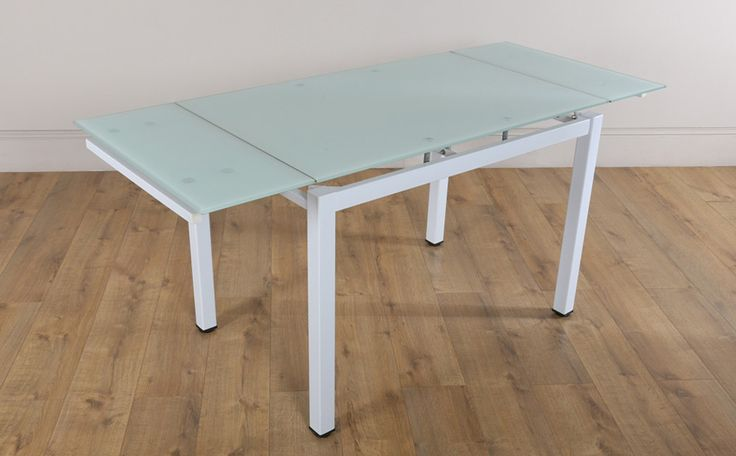 Space Glass Extending Dining Table