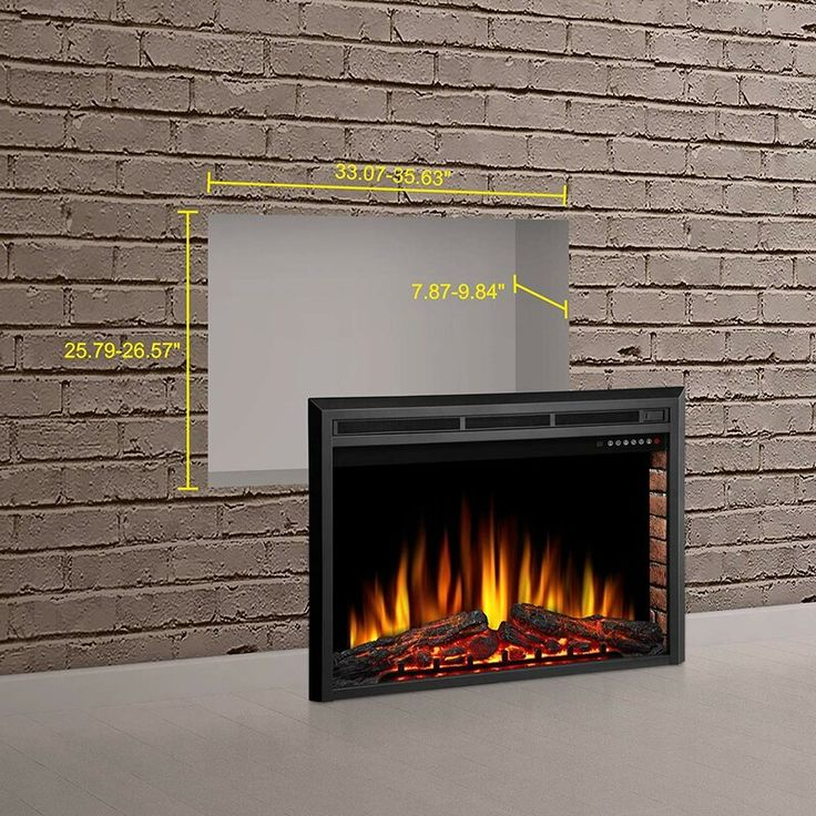 Recessed Wall Mounted Electric Fireplace Insert in 2020