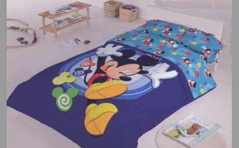 Edredón Mickey azul. Producto oficial Disney.