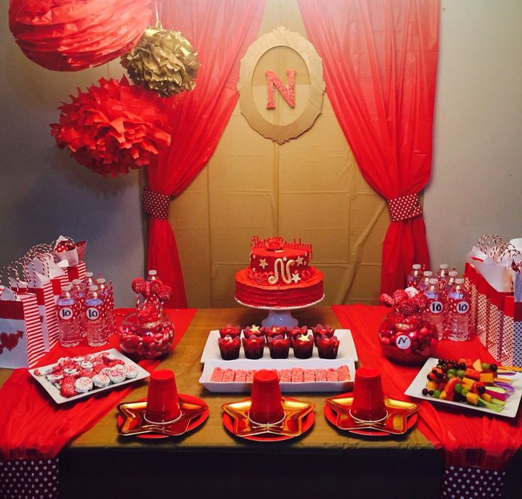 Valentines Day sweet table.  Birthday party