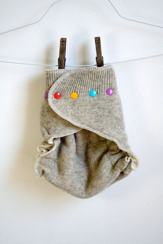 wool nappy cover - gray - one size wool diaper cover - nifty nappy woolie wrap - cute colours
