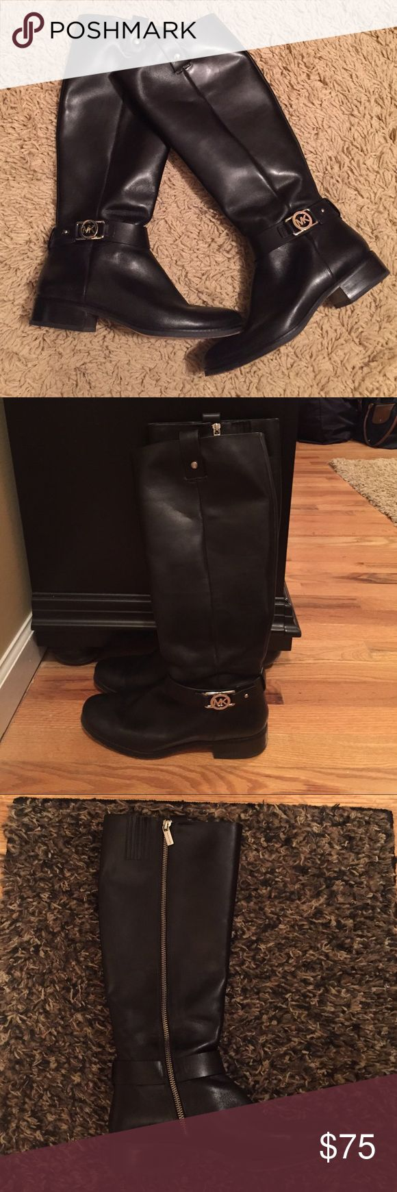 Michael Kors Tall Riding Boots Authentic Michael Kors tall riding boot in black. Only worn twice and in near PERFECT condition! A must have for the fall/winter season! Size 9 MICHAEL Michael Kors Shoes