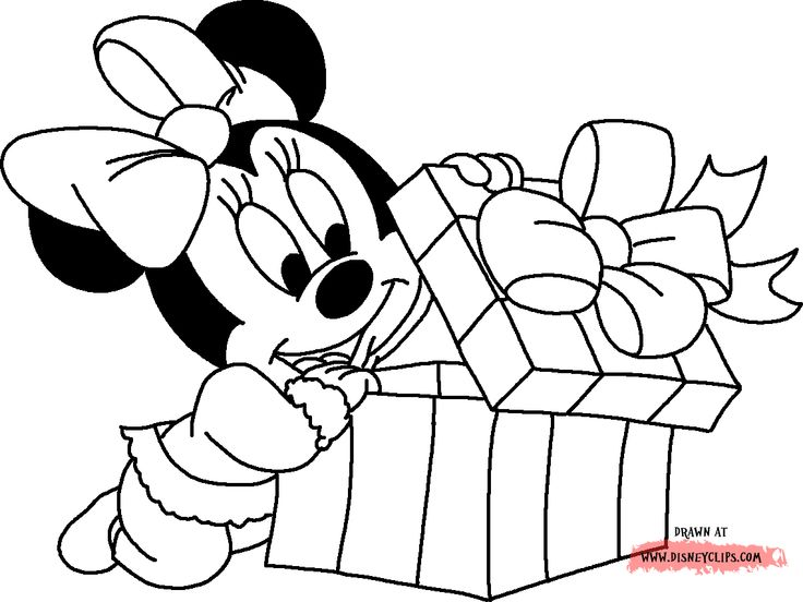 Minnie Christmas Coloring Pages Mickey And Minnie