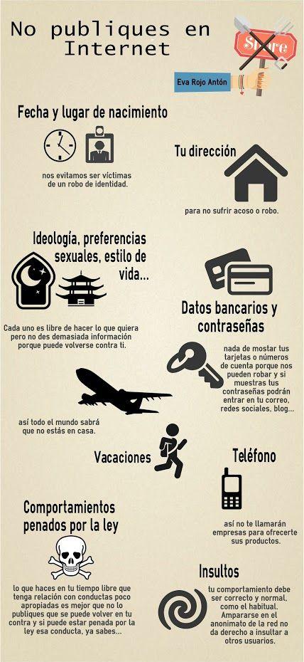 No publiques en Internet: http://tecnicoenformacion.blogspot.com.es/2016/05/infografia-no-publiques-en-internet.html #Protegeteenred   -  Eva Maria Rojo Anton - Google+