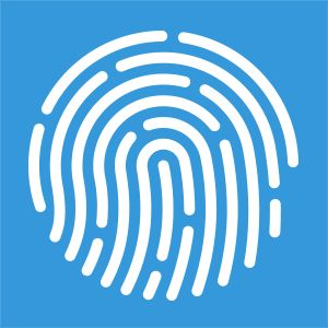 Simple logo with finger print mark