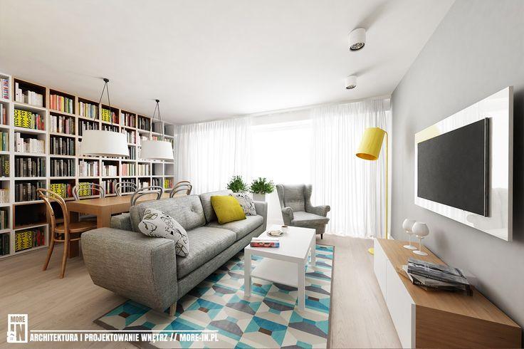 Salon styl Nowoczesny  #salon #pomysłynasalon #wystrójwnętrz #interiordesign see more: dom-wnetrze.com