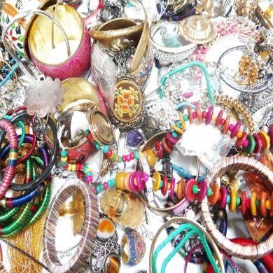 Lot of Necklaces Pendant Ring Cuff Bangle Stone Silver Gold Tone Multi Jewelry