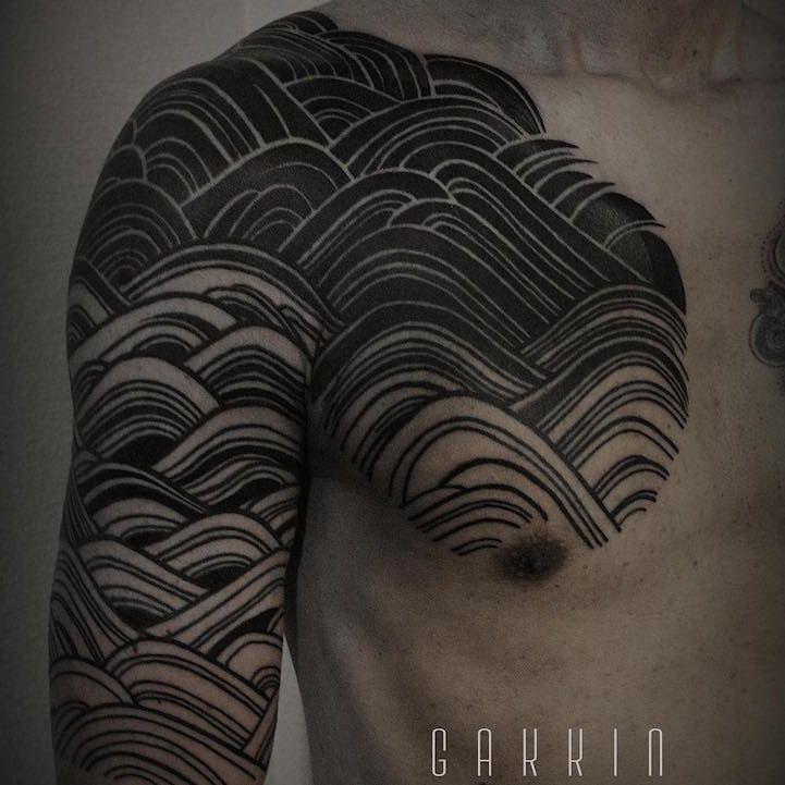 Les tatouages freehand de thèmes traditionnels japonais de Gakkin  2Tout2Rien