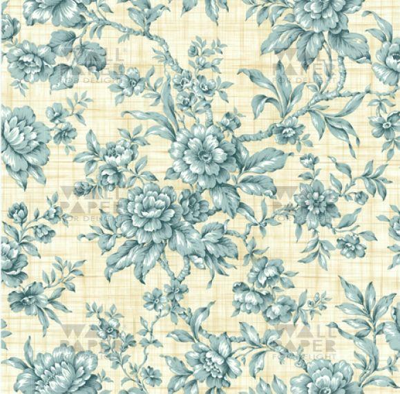 Vintage behang - Bloem Delfts Blauw 1064 32,95 bij  wallpaperfordelight.nl