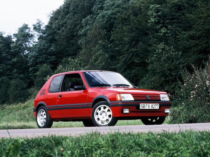 Peugeot 205 GTi - Remember being driven to school in this car. Classic