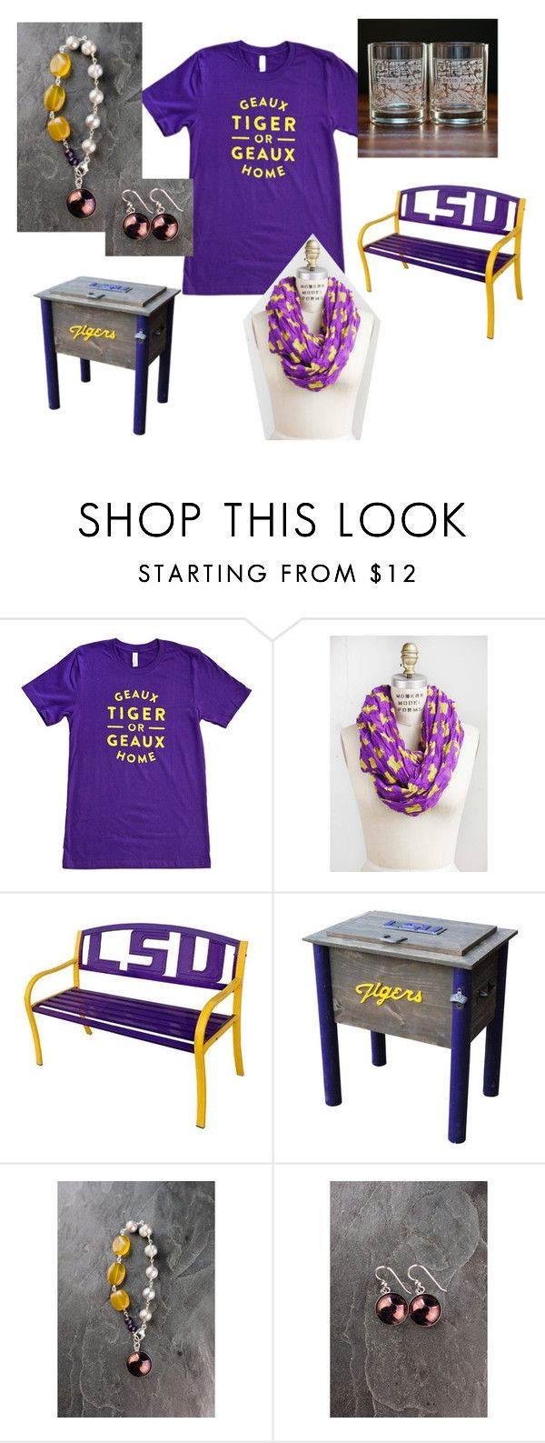 Baton Rouge College Town Collection by bourbonandboots on Polyvore featuring interior, interiors, interior design, home, home decor, interior decorating and lsu