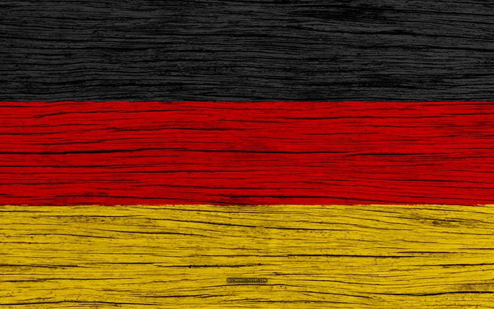 Download wallpapers Flag of Germany, 4k, Europe, wooden texture, German flag, national symbols, Germany flag, art, Germany