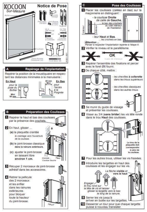 Notice De Pose Kocoon Pour Moustiquaire Enroulable Fenetre Sur Mesure Moustiquaire Moustiquaire Enroulable Fenetre Sur Mesure