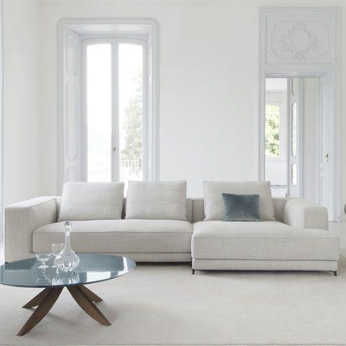 Sofá modular / moderno / de cuero / de tela CHRISTIAN BERTO SALOTTI