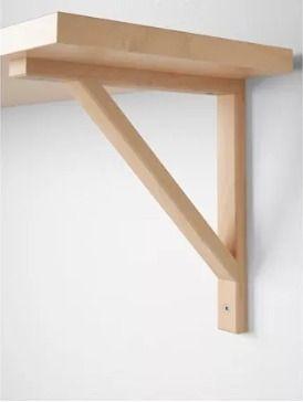 mensulas de madera para estantes