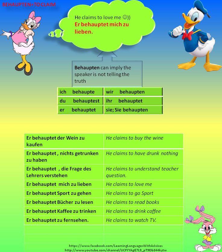 behaupten=to claim