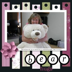 Bear hugs scrapbook page designed with My Digital Studio2 software by Stampin' Up!