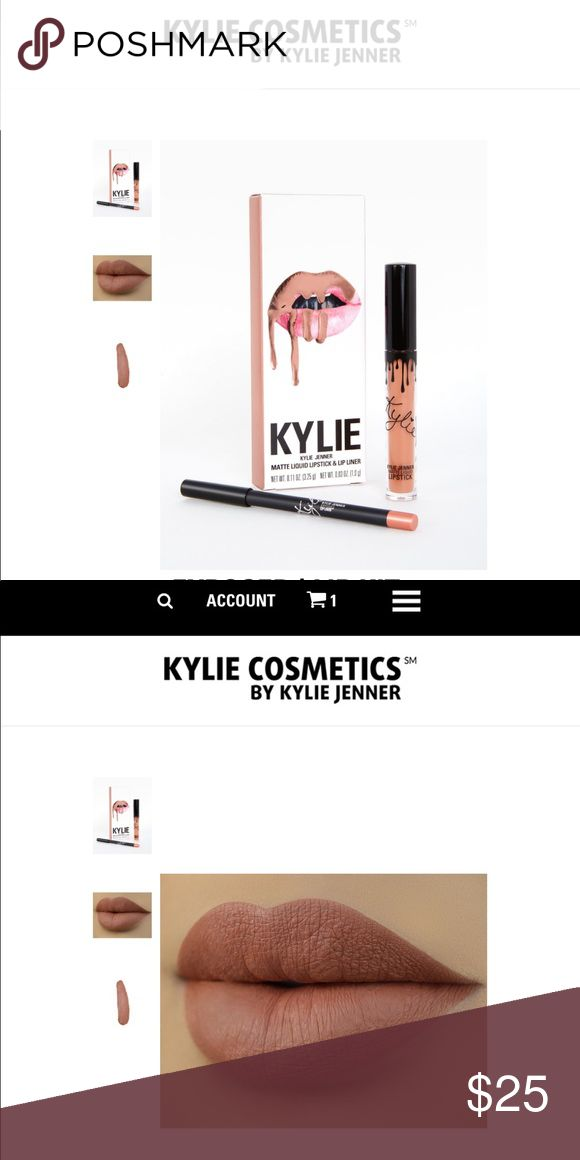 🆕💄Kylie Cosmetics Exposed LipKit 100% Authentic, comes with Matte lipstick & lip liner Kylie Cosmetics Makeup Lipstick