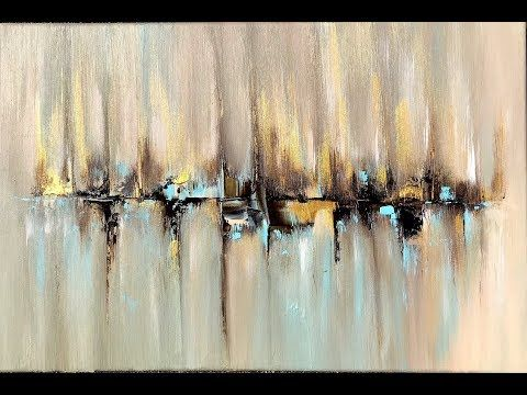 Skyline, abstract painting with Acrylic, abstract …