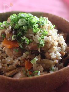 韓国風大根と鶏肉の炊き込みご飯