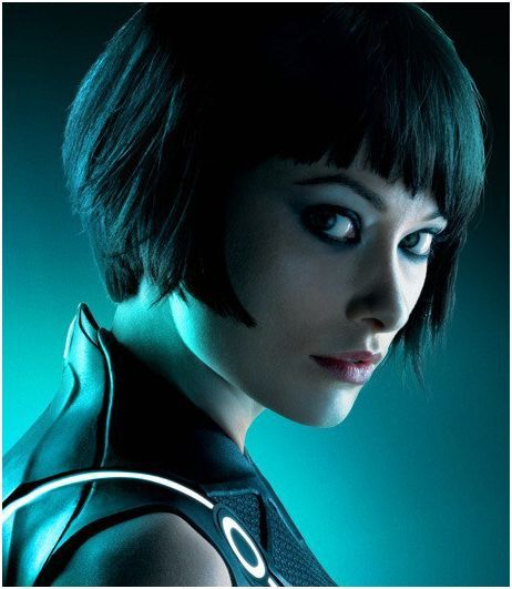 Olivia Wilde's bob with bangs from Tron