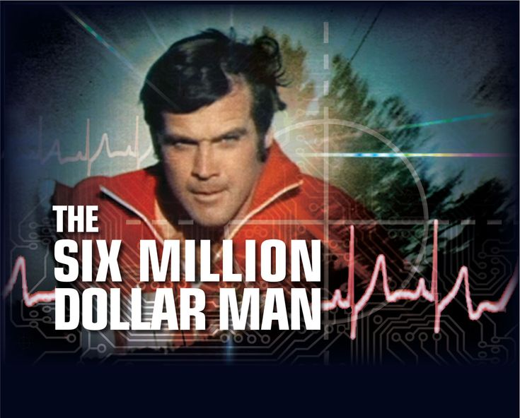 "In the popular TV show ""The $6 Million Man,"" Lee Majors plays former astronaut Steve Austin, whose broken body must be rebuilt with bionic implants following a crash. Description from ourworldsmysteries.com. I searched for this on bing.com/images"