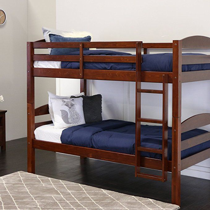 Best Amazon Com We Furniture Solid Wood Twin Bunk Bed White 400 x 300