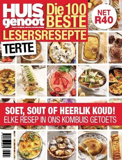 Huisgenoot Terte Magazine. Food. Recipes. Afrikaans. Homemade.