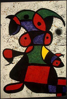 Mulher. Óleo sobre tela. 1976. Joan Miró (1893-1983). Encontra-se na Galeria Nacional de Arte, Washington, D.C., USA.                                                                                                                                                                                 Mais