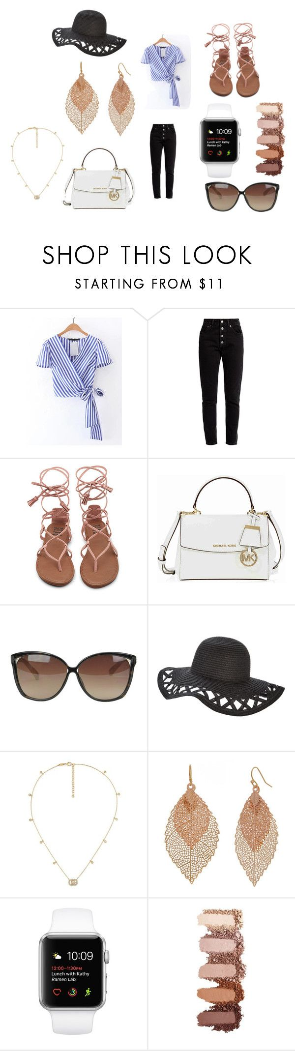"""""""Chic Spring Luncheon/ Outing Outfit"""" by peyton-doyle on Polyvore featuring Balenciaga, Michael Kors, Linda Farrow, Gucci and Bold Elements"""
