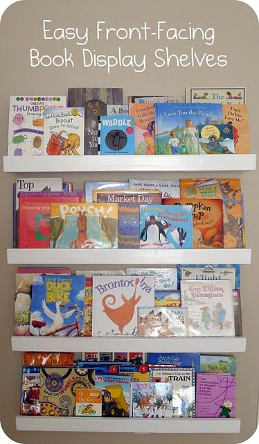 Great idea for our next play room or one of the girls rooms.: Book Displays, Bookshelves, Books Display, Books Shelves, Pictures Books, Front Fac, Picture Books, Display Shelves, Kids Rooms